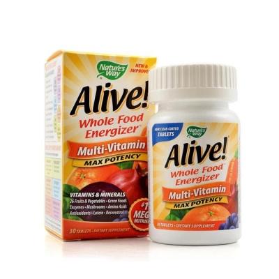 АЛАЙВ МУЛТИВИТАМИНИ таблетки 1 гр. 30 броя / NATURE'S WAY ALIVE MULTIVITAMIN