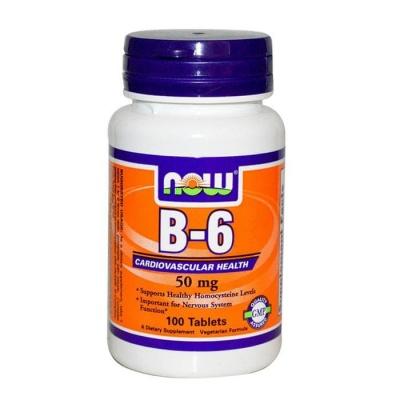 НАУ ФУДС ВИТАМИН Б-6 таблетки 50 мг. 100 броя / NOW FOODS VITAMIN B-6