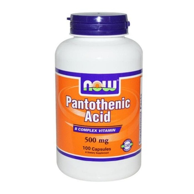 НАУ ФУДС ВИТАМИН Б-5 капсули 500 мг. 100 броя / NOW FOODS PANTOTHENIC ACID