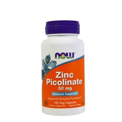 НАУ ФУДС ЦИНК ПИКОЛИНАТ капсули 50 мг. 120 броя / NOW FOODS ZINC PICOLINATE