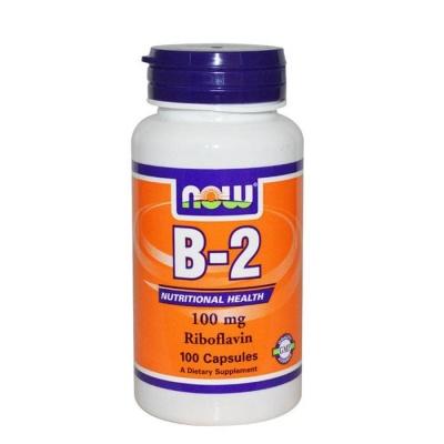 НАУ ФУДС ВИТАМИН Б-2 капсули 100 мг. 100 броя / NOW FOODS RIBOFLAVIN