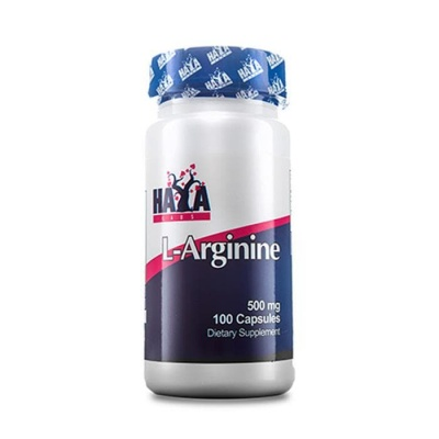 ХАЯ ЛАБС L-АРГИНИН капсули 500 мг. 100 броя / HAYA LABS L-ARGININE