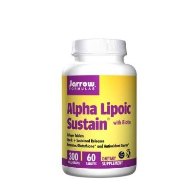 АЛФА ЛИПОЕВ СИСТЕИН + БИОТИН таблетки 300 мг. 60 броя / JARROW FORMULAS ALPHA LIPOIC SUSTEIN + BIOTIN