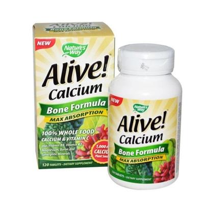 АЛАЙВ КАЛЦИЙ ФОРМУЛА ЗА КОСТИ таблетки 120 броя / ALIVE CALCIUM BONE FORMULA