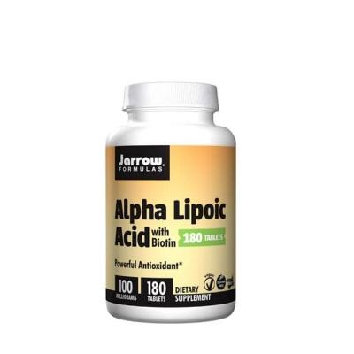 АЛФА ЛИПОЕВА КИСЕЛИНА таблетки 100 мг. 180 броя / JARROW FORMULAS ALPHA LIPOIC ACID