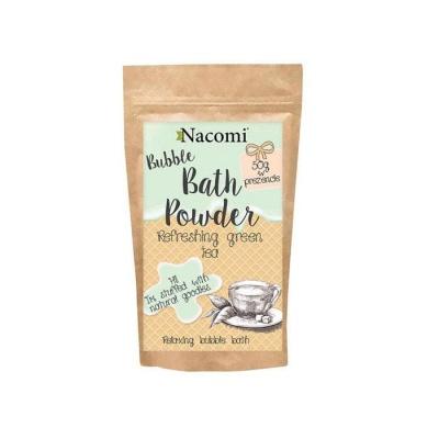 ПУДРА ЗА ВАНА със свеж аромат на зелен чай 100 гр. / NACOMI BATH POWDER REFRESHING GREEN TEA - изображение