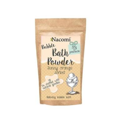 ПУДРА ЗА ВАНА с аромат на портокалово сорбе 100 гр. / NACOMI BATH POWDER SUNNY ORANGE SORBET
