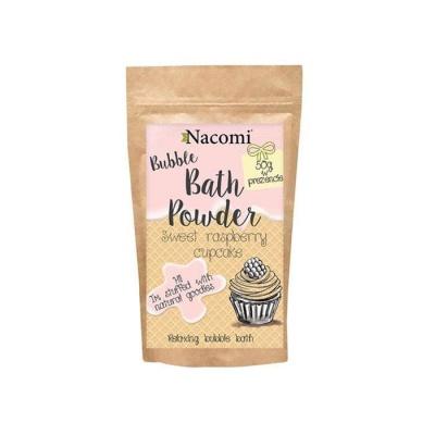ПУДРА ЗА ВАНА с аромат на сладко малиново кексче 100 гр. / NACOMI BATH POWDER SWEET RASPBERRY CUPCAKE - изображение