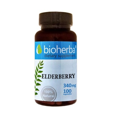 БЪЗАК БИОХЕРБА  капсули 340 мг. 100 броя / BIOHERBA ELDERBERRY