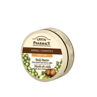 МАСЛО ЗА ТЯЛО С КАРИТЕ И ЗЕЛЕНО КАФЕ 200 мл. / GREEN PHARMACY BODY BUTTER SHEA BUTTER AND GREEN COFFEE