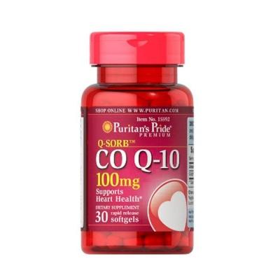 КОЕНЗИМ Q10 капсули 100 мг. 30 броя / PURITAN'S PRIDE COENZYME Q 10