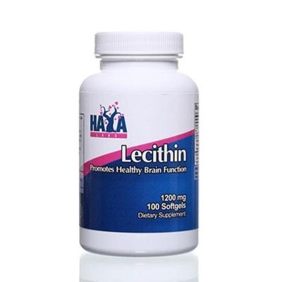 ХАЯ ЛАБС ЛЕЦИТИН дражета 1200 мг. 100 броя / HAYA LABS LECITHIN