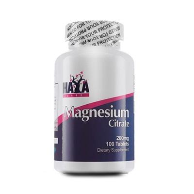 ХАЯ ЛАБС МАГНЕЗИЕВ ЦИТРАТ таблетки 200 мг. 100 броя / HAYA LABS MAGNESIUM CITRATE