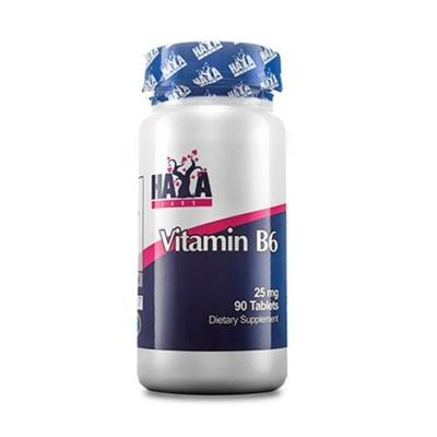 ХАЯ ЛАБС ВИТАМИН Б6 таблетки 25 мг. 90 броя / HAYA LABS VITAMIN B6