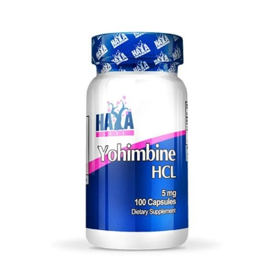 ХАЯ ЙОХИМБИН ХИДРОХЛОРИД (HCL) капсули 5 мг. 100 броя / HAYA LABS YOHIMBINE HCL