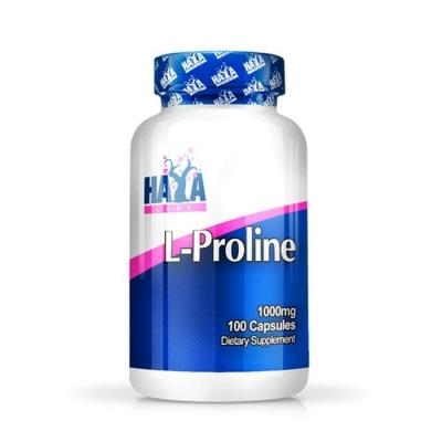 ХАЯ ЛАБС L-ПРОЛИН капсули 1000 мг. 100 броя / HAYA LABS L-PROLINE