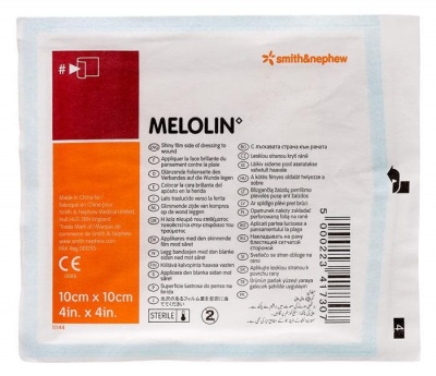 МЕЛОЛИН СТЕРИЛНА ПРЕВРЪЗКА ЗА РАНА 10 см. / 10 см. - 1 брой / MELOLIN
