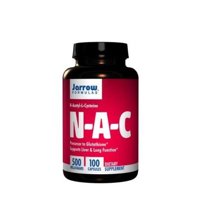 N-АЦЕТИЛ  И L-ЦИСТЕИН  капсули 500 мг. 100 броя / JARROW FORMULAS  N-ACETYL L-CYSTEINE (NAC)