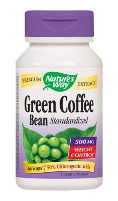 ЗЕЛЕНО КАФЕ ЗЪРНА капсули 500 мг. 60 броя / NATURE'S WAY GREEN COFFEE BEAN