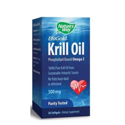 КРИЛ ОЙЛ капсули 500 мг. 30 броя / NATURE'S WAY KRILL OIL