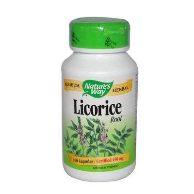 ЖЕНСКО БИЛЕ / СЛАДНИК КОРЕН капсули 450 мг. 100 броя / NATURE'S WAY LICORICE ROOT