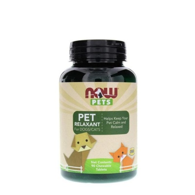 НАУ ФУДС ПЕТС РЕЛАКСАНТ ЗА КУЧЕТА И КОТКИ таблетки 90 броя / NOW FOODS PETS RELAXANT FOR DOGS AND CATS
