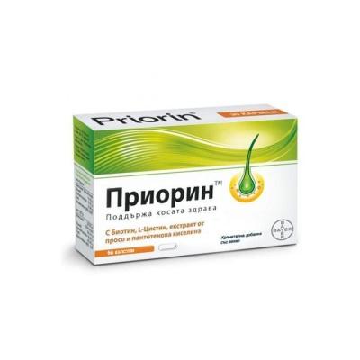 ПРИОРИН капсули за здрава коса 60 броя / PRIORIN capsules
