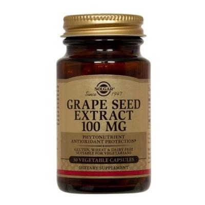 СОЛГАР ЕКСТРАКТ ОТ ГРОЗДОВИ СЕМКИ капсули 100 мг. 30 броя / SOLGAR GRAPE SEED EXTRACT