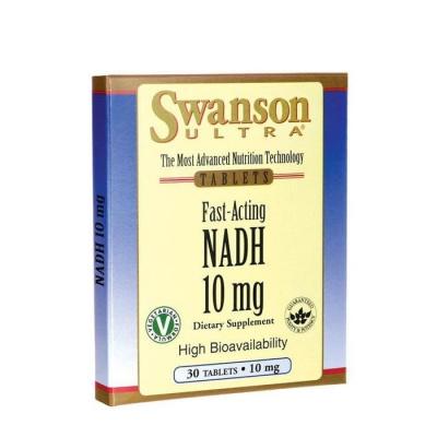СУОНСЪН NADH БЪРЗОДЕЙСТВАЩ таблетки 10 мг. 30 броя / SWANSON FAST - ACTING NADH WITH HIGH BIOAVAILABILYTI