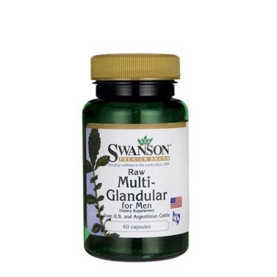 СУОНСЪН СУРОВИ ЖЛЕЗИ ЗА МЪЖЕ капсули 450 мг. 60 броя / SWANSON  PREMIUM MULTI GLANDULAR FOR MEN