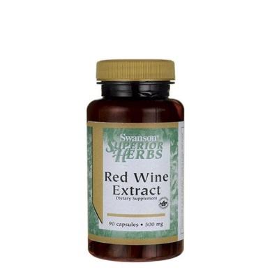 СУОНСЪН ЕКСТРАКТ ОТ ЧЕРВЕНО ВИНО капсули 500 мг. 90 броя / SWANSON RED WINE EXTRACT