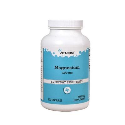 МАГНЕЗИЙ капсули 400 мг. 200 броя / VITACOST MAGNESIUM