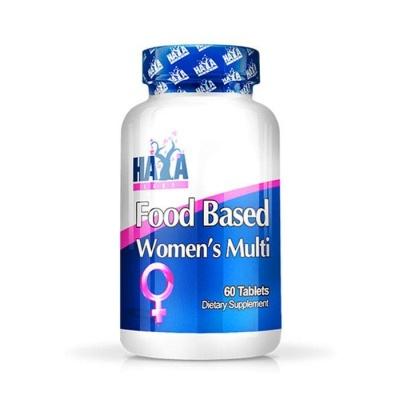 ХАЯ ЛАБС МУЛТИВИТАМИНИ ЗА ЖЕНИ таблетки 60 броя / HAYA LABS FOOD BASED WOMENS MULTIVITAMINS
